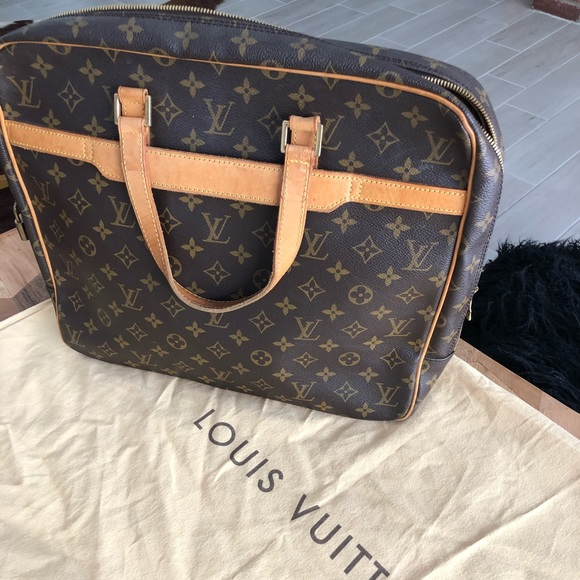 ce8f8cea5ac Louis Vuitton Bags   Genuine Leather Briefcase Laptop Bag   Poshmark